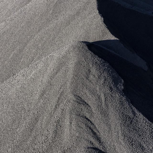 """""""Stock pile of raw coal, Cleveland, Ohio, USA."""" stock image"""