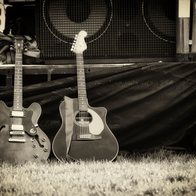 """""""Two Guitars"""" stock image"""