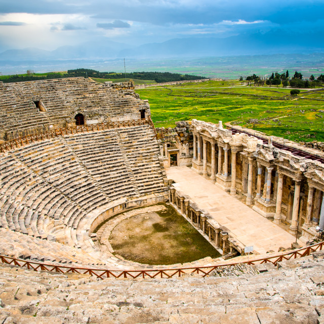 """The amphitheatre at Hierapolis"" stock image"