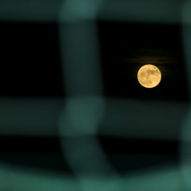 """Moon through the net"" stock image"