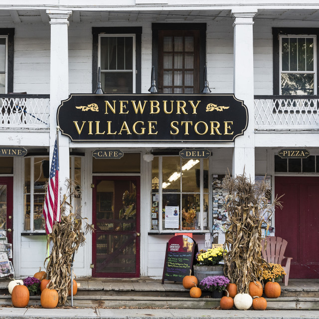 """Charming village store, Newbury, Vermont, USA."" stock image"