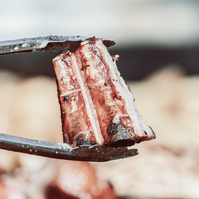 """Preparing Steaks On Barbecue Day"" stock image"