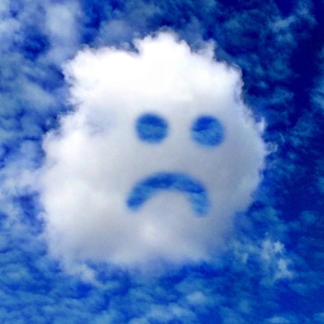 """Unhappy cloud"" stock image"