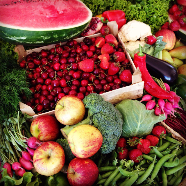 """summer. vegies and fruits"" stock image"