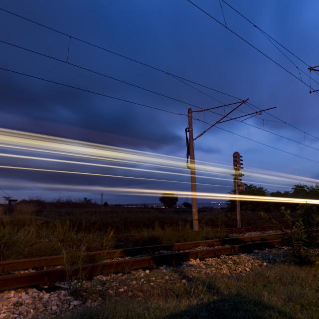 """night train"" stock image"