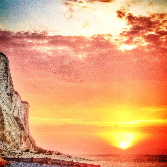 """Sunrise over St Magarets Bay"" stock image"