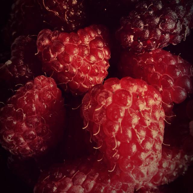 """Juicy raspberries"" stock image"