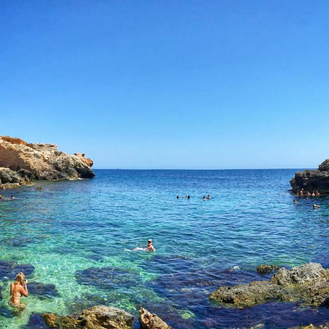 """Ghar Lapsi creek, Malta"" stock image"