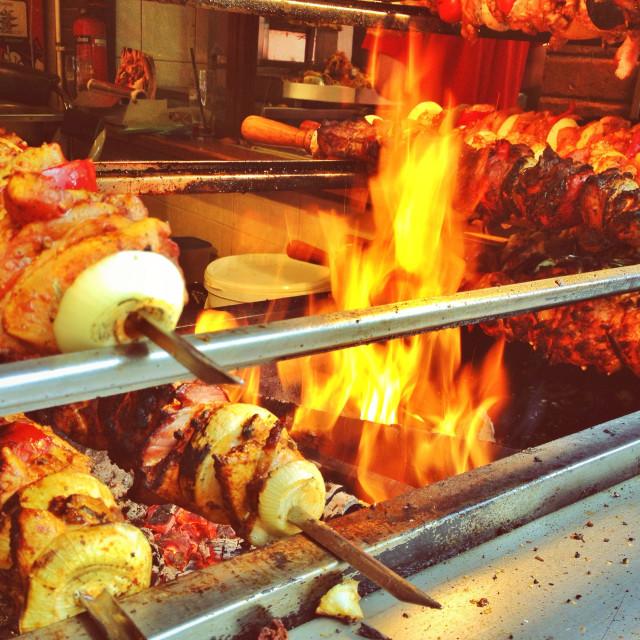 """""""Shish kebab fastfood"""" stock image"""