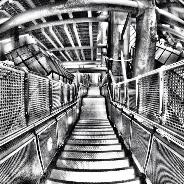"""Westminster underground station, Jubilee Line. Brutalist architecture."" stock image"