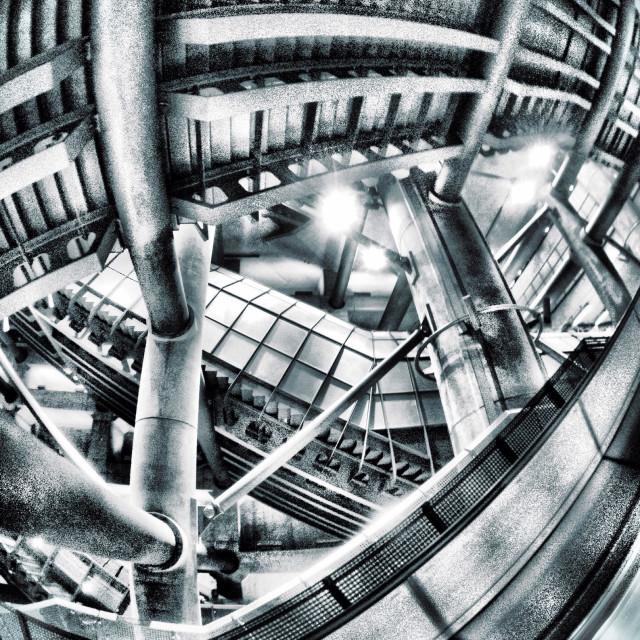 """Westminster underground station, Jubilee line, brutalist architecture"" stock image"