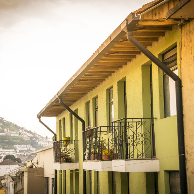 """Old houses of Quito, Ecuador"" stock image"