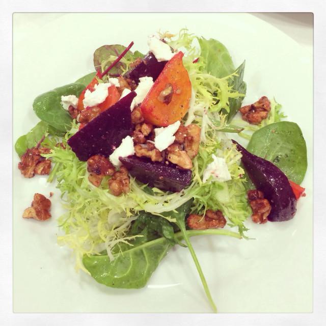 """Golden beat walnut salad"" stock image"