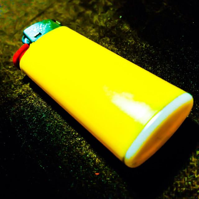 """Yellow lighter"" stock image"