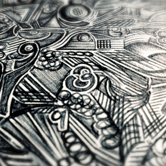 """""""Close up of a doodle containing numbers"""" stock image"""