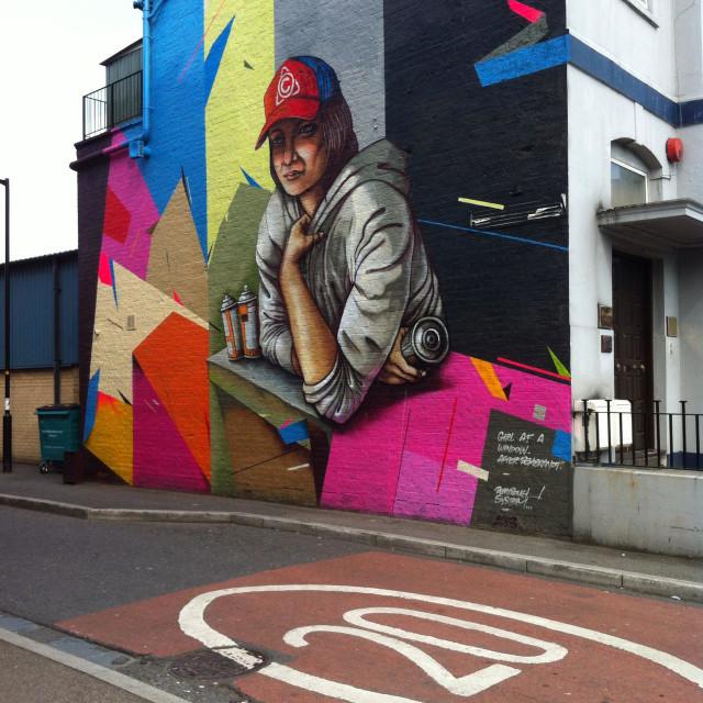 """""""East Dulwich graffiti, London"""" stock image"""