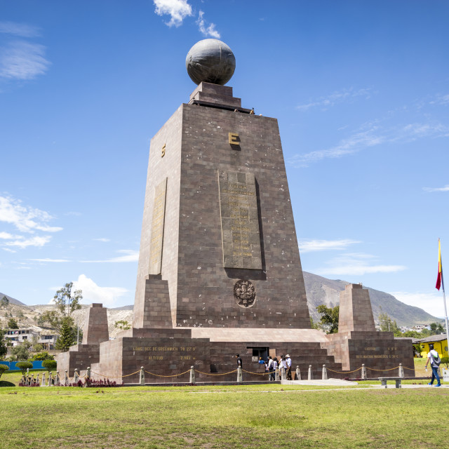 """Middle of the World monument in Ecuador"" stock image"