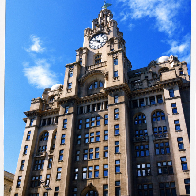 """The Liver Building Liverpool"" stock image"