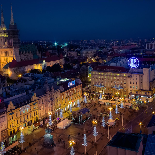 """Zagreb's main square at Advent time"" stock image"