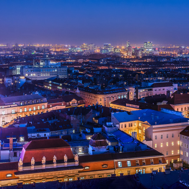 """Zagreb from above"" stock image"