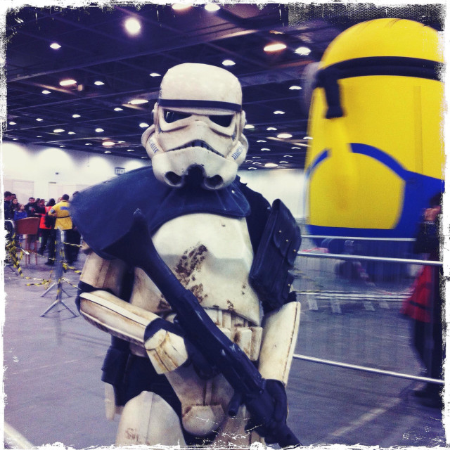 """""""Storm trooper at London comic con"""" stock image"""