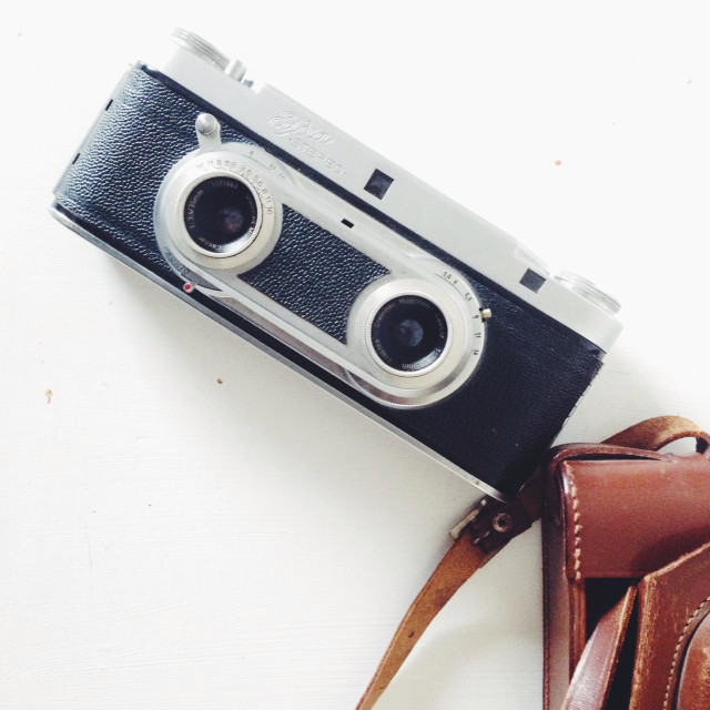 """Vintage stereo camera"" stock image"