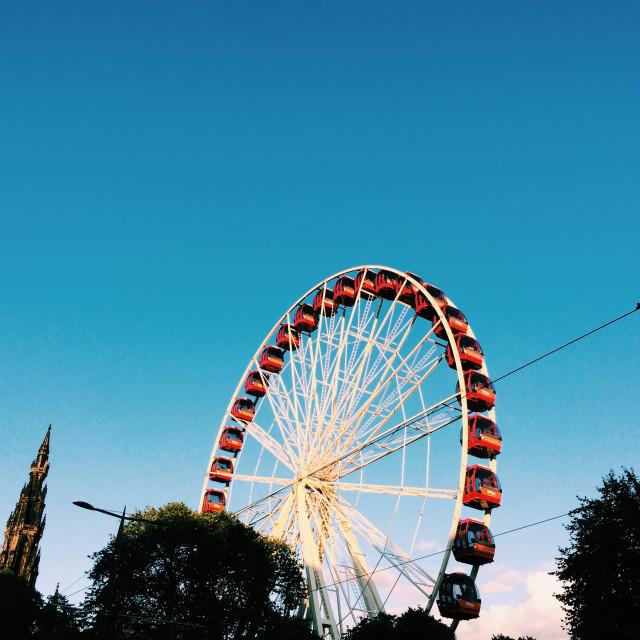"""Festival Wheel, Edinburgh"" stock image"