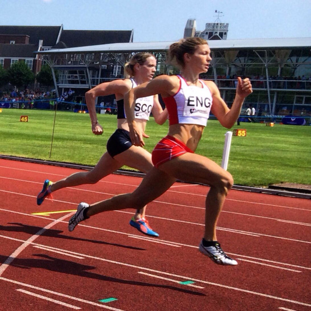"""Loughborough International Athletics competition 2014"" stock image"