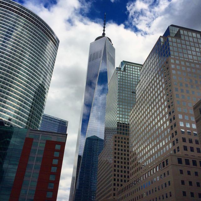 """Freedom Tower skyline"" stock image"