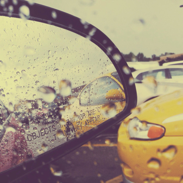 """Rain drops keep falling on my car"" stock image"