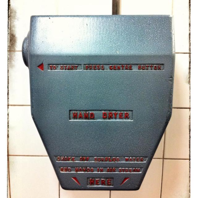 """""""Metal hand dryer"""" stock image"""