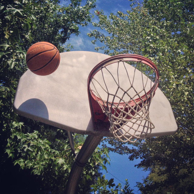 """""""Basketball Lunch Workout"""" stock image"""