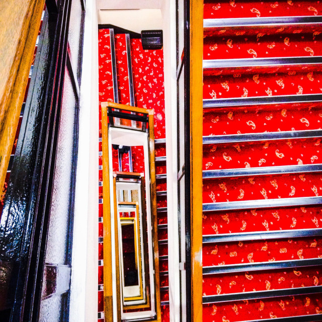 """""""Staircase with red carpet"""" stock image"""