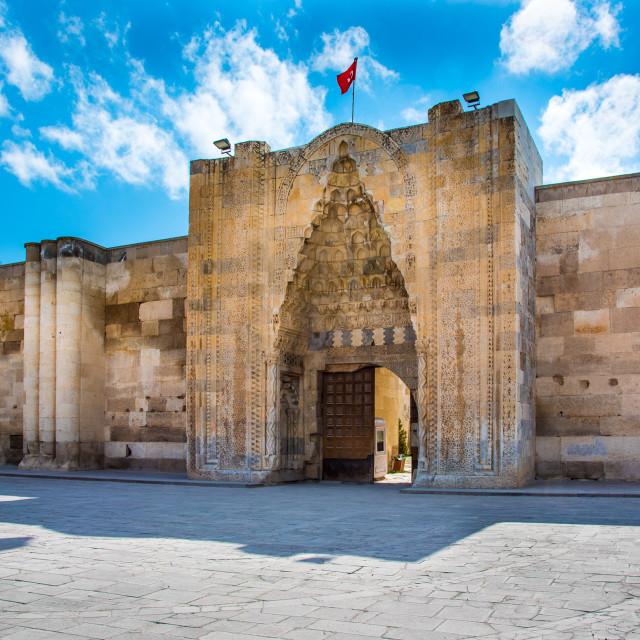 """The Caravanserai at Sultanhani"" stock image"