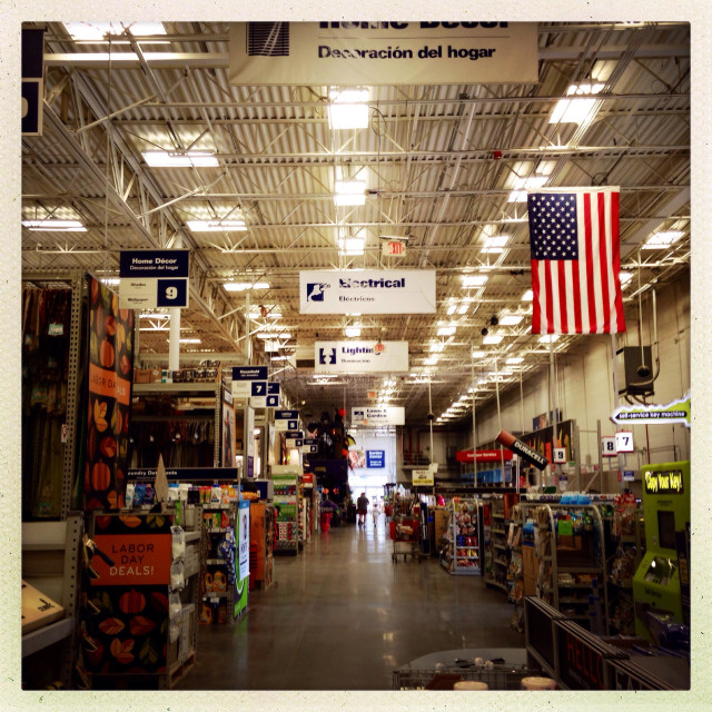 """""""Lowes home improvement store"""" stock image"""