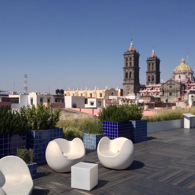 """Museum Amparo rooftop, Puebla , Mexico"" stock image"