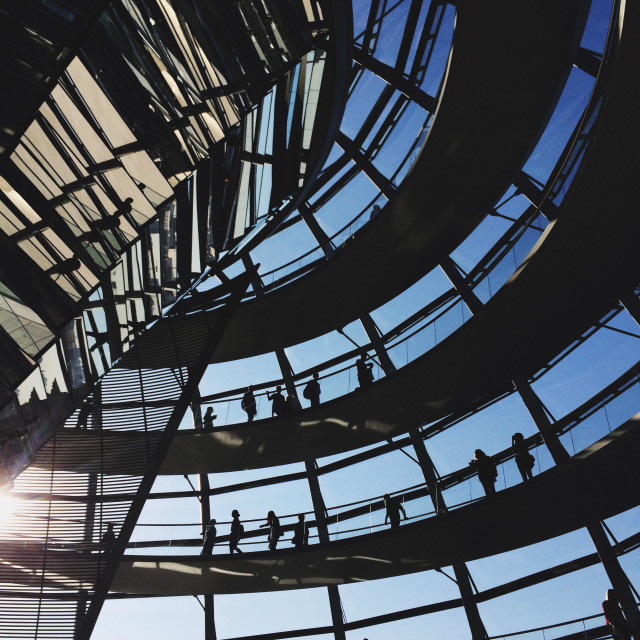 """Reichstag dome berlin Germany"" stock image"