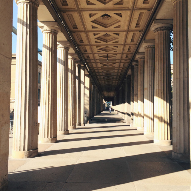 """Colonnades on Museumsinsel, Berlin"" stock image"