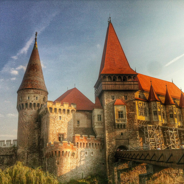 """Corvin's Castle,Hunyadi Castle, Hunedoara,Romania"" stock image"