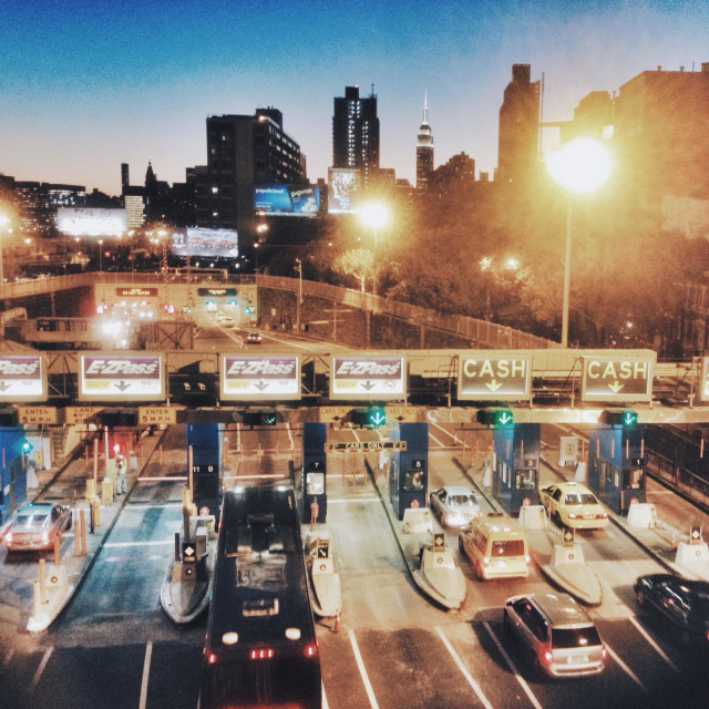 """""""Midtown tunnel early evening"""" stock image"""