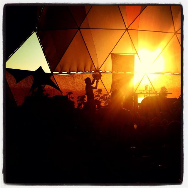 """Percussion show at Boom Festival, Portugal"" stock image"