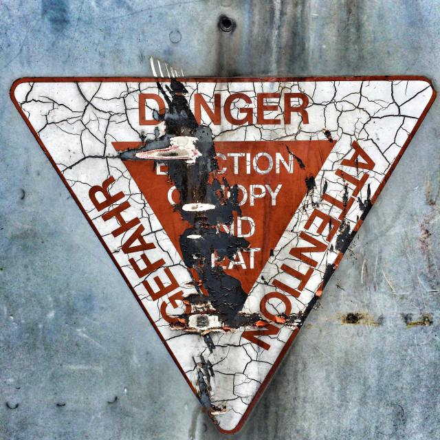 """""""Danger sign"""" stock image"""