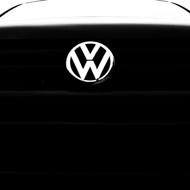 """VW Transporter van, close up"" stock image"
