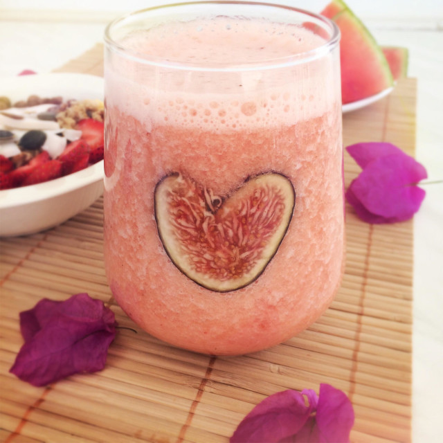 """""""Pink Love Smoothie"""" stock image"""