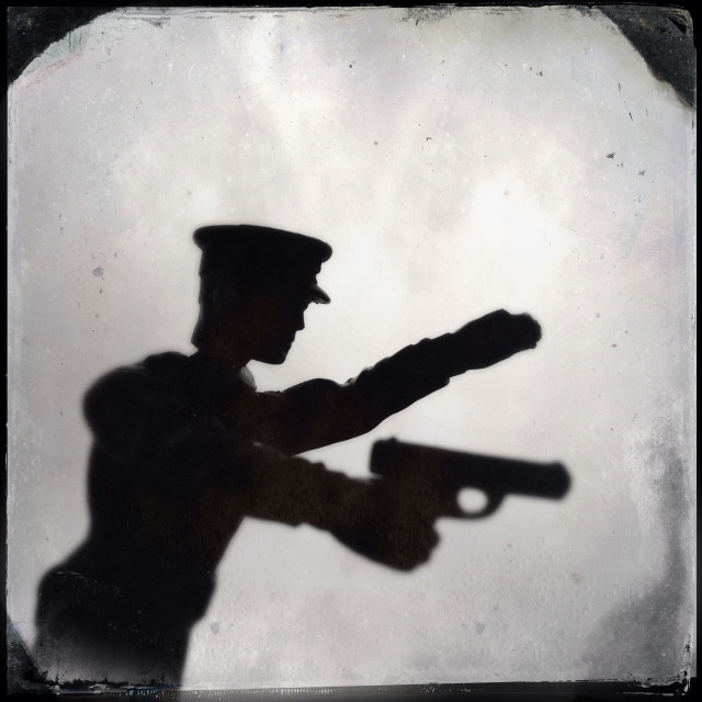"""Silhouette of a toy"" stock image"