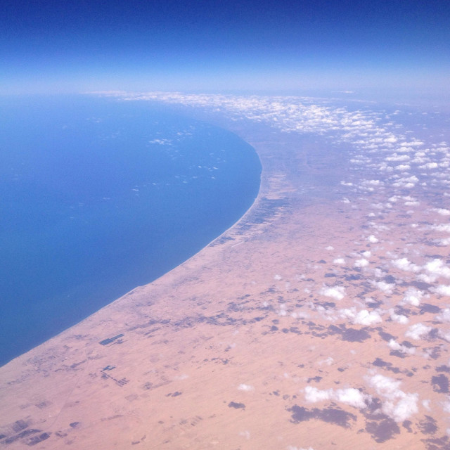 """""""Gaza Strip looking north from Egypt"""" stock image"""