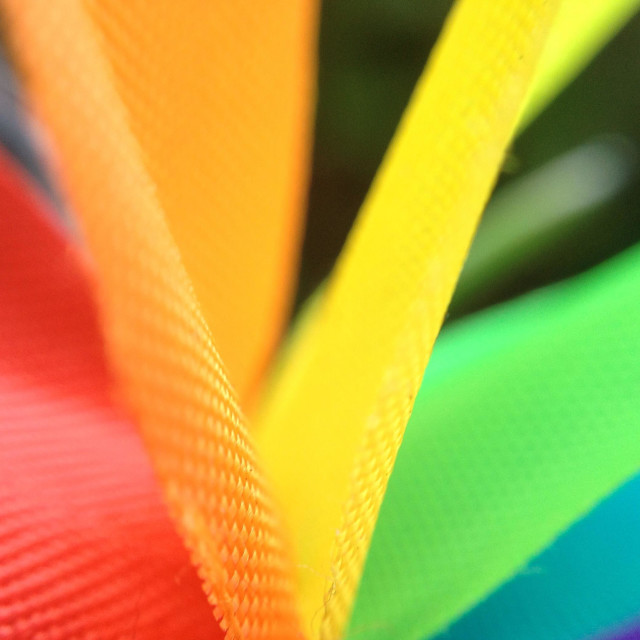 """Multi coloured ribbons"" stock image"