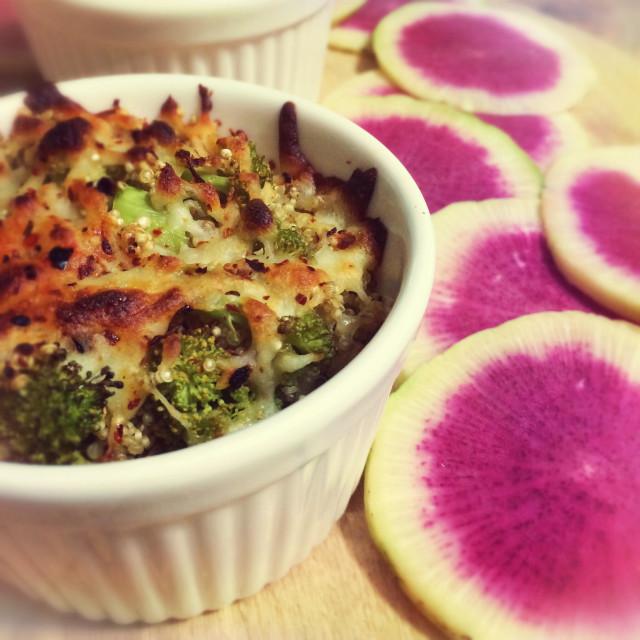 """""""Quinoa Broccoli Souffle"""" stock image"""