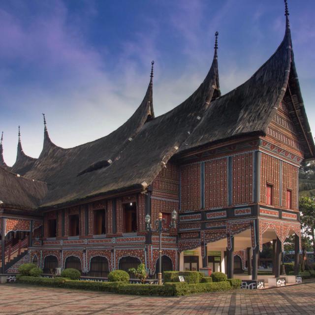 """""""The Minangkabau house"""" stock image"""