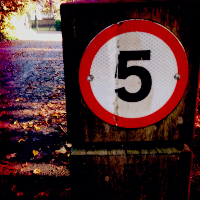 """""""Cycle path speed limit in London park"""" stock image"""